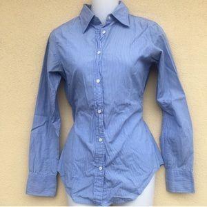 GAP Long Sleeve Boyfriend Striped Shirt Size:0